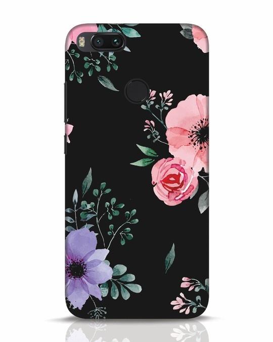 Shop Dark Florals Xiaomi Mi A1 Mobile Cover-Front