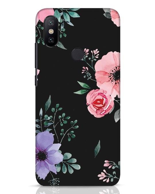Shop Dark Florals Xiaomi Mi A2 Mobile Cover-Front