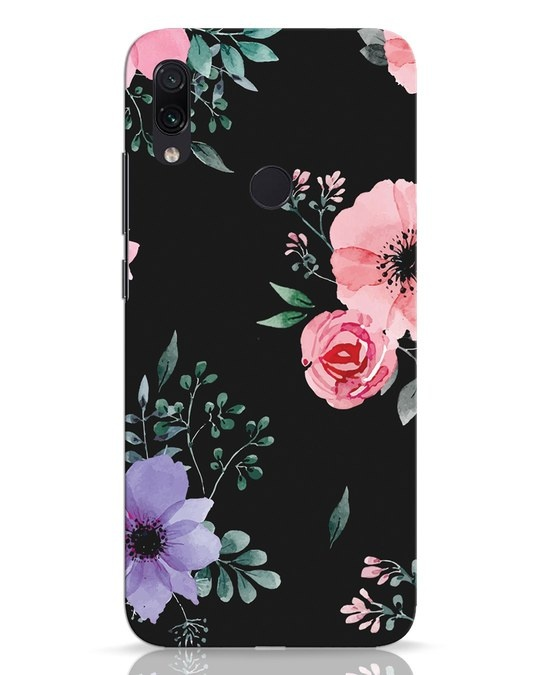 Shop Dark Florals Xiaomi Redmi Note 7 Pro Mobile Cover-Front