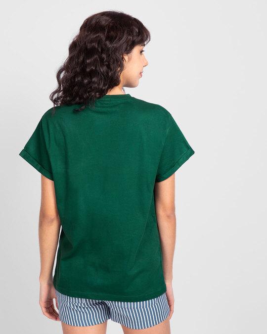 Shop Dark Forest Green  Boyfriend T-Shirt-Design
