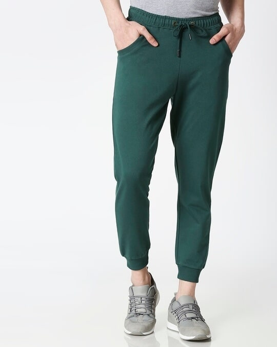 Shop Dark Forest Green Casual Jogger Pant-Back