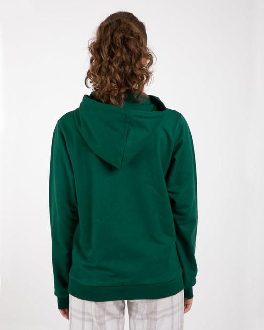 Shop Dark Forest Green Fleece Hoodies-Full