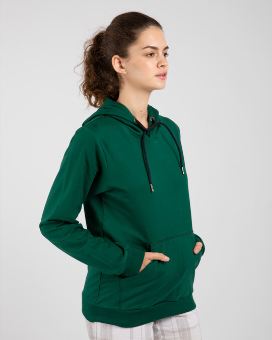 Shop Dark Forest Green Fleece Hoodies-Design