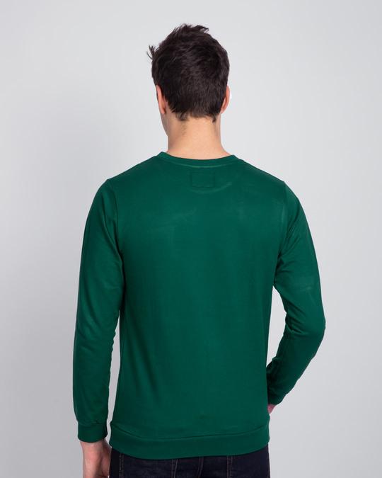 Shop Dark Forest Green Fleece Light Sweatshirt-Design
