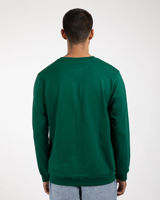 Shop Dark Forest Green Fleece Sweater-Full