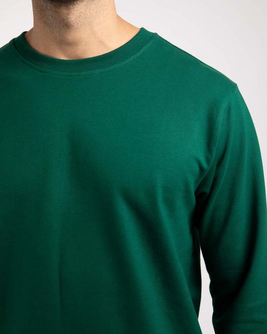 Shop Dark Forest Green Fleece Sweater