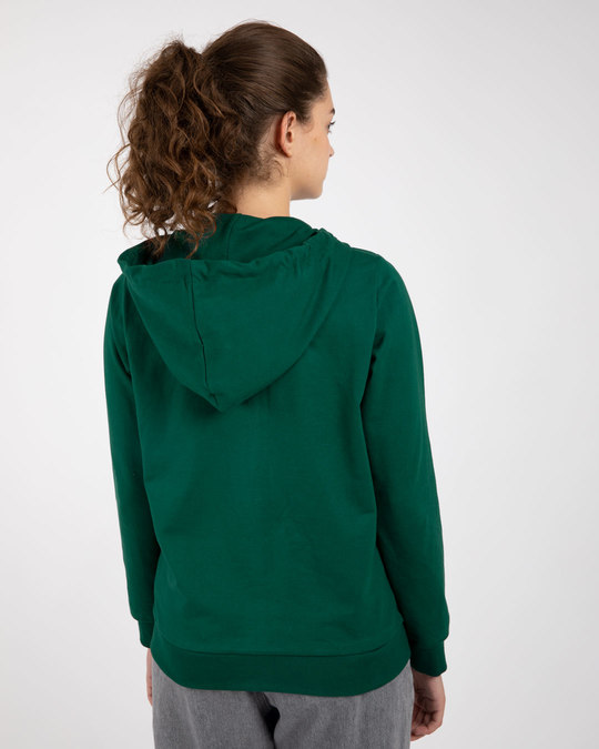 Shop Dark Forest Green Fleece Zipper Hoodies-Design