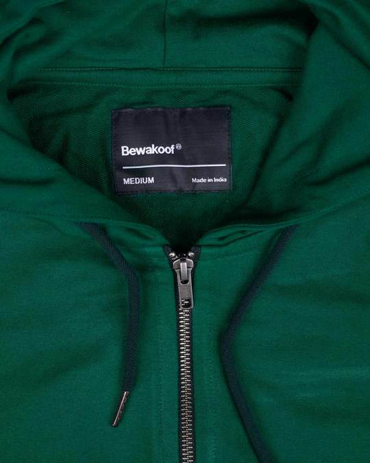 Shop Dark Forest Green Fleece Zipper Hoodies