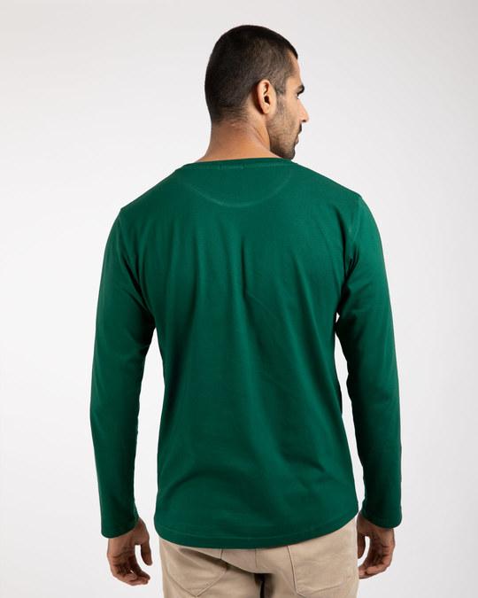 Shop Dark Forest Green Full Sleeve T-Shirt-Full