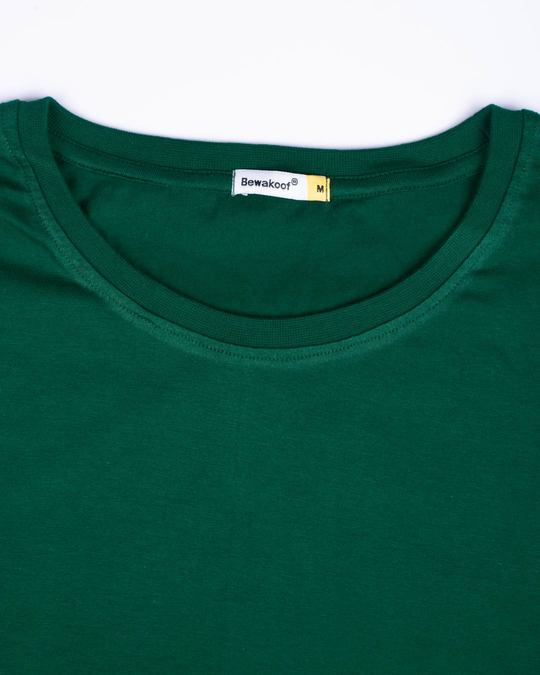 Shop Dark Forest Green Half Sleeve T-Shirt
