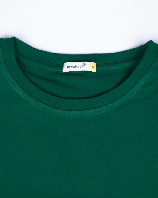 Shop Dark Forest Green Half Sleeve T-shirt