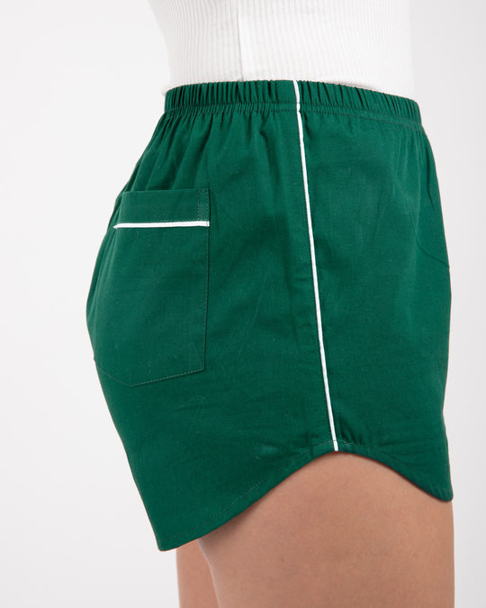 Shop Dark Forest Green Plain Boxer