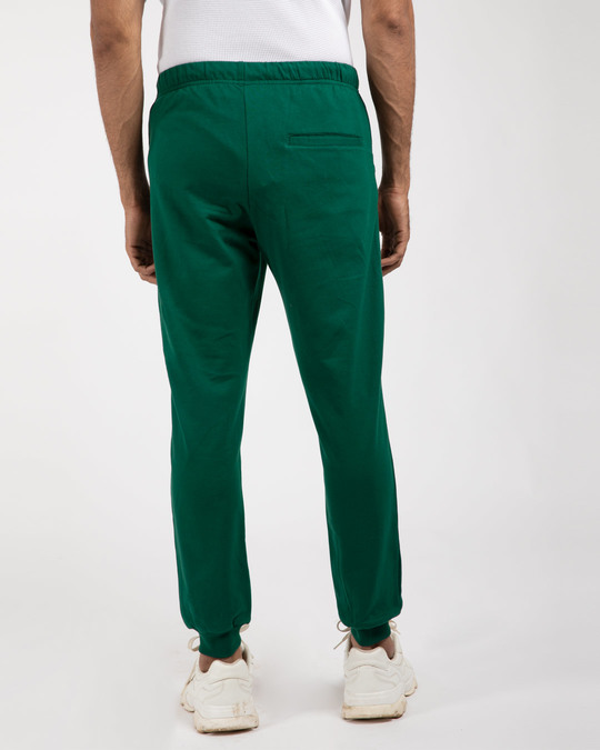 Shop Dark Forest Green Round Pocket Joggers-Full