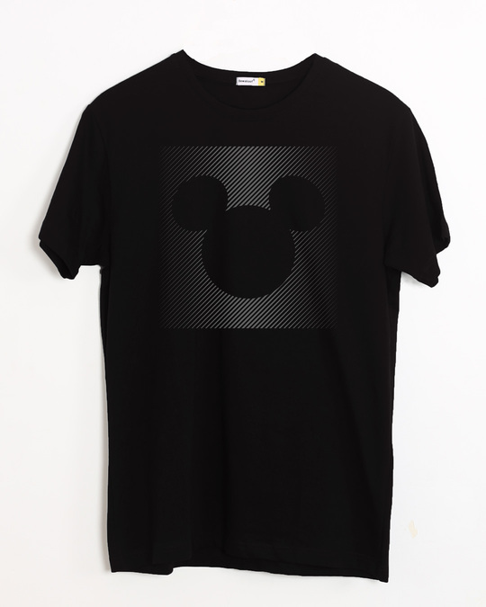 Shop Dark Gradient Mickey Half Sleeve T-Shirt (DL)-Front