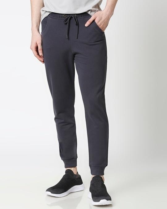 Shop Dark Grey Casual Jogger Pant-Front