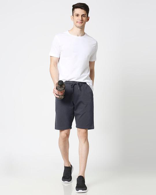 Shop Dark Grey Casual Shorts-Full