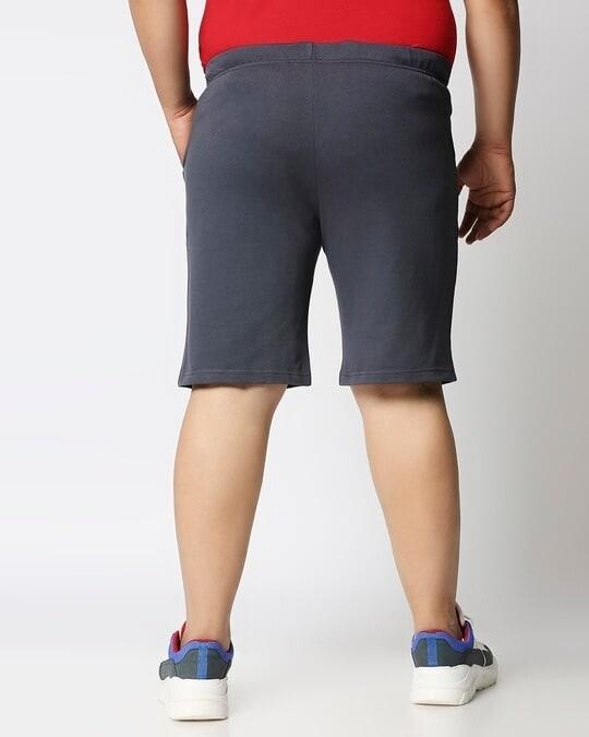 Shop Dark Grey Plus Size Casual Shorts-Design