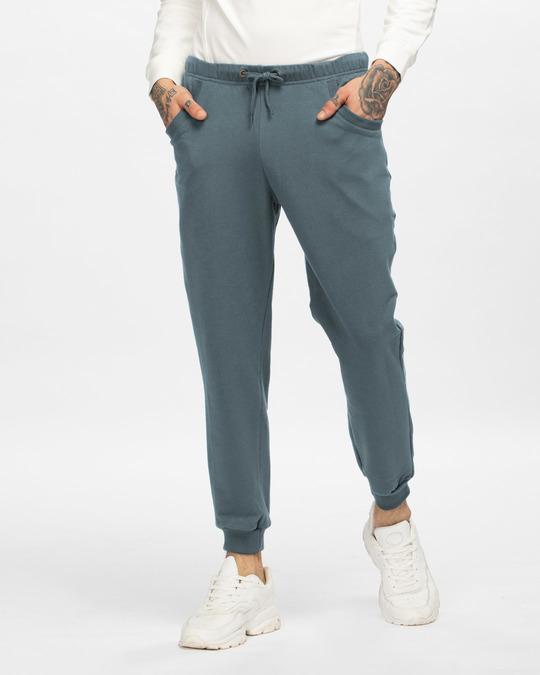 Shop Dark Grey Joggers-Front