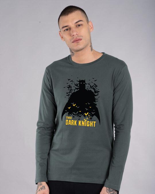 Shop Dark Knight Bats Full Sleeve T-Shirt (BL)-Front