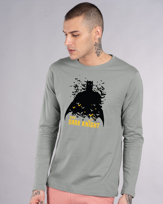 Shop Dark Knight Bats Full Sleeve T-Shirt (BL)-Front