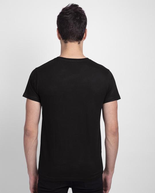 Shop Dark Knight Stripe Half Sleeve T-Shirt Black (BML)-Back