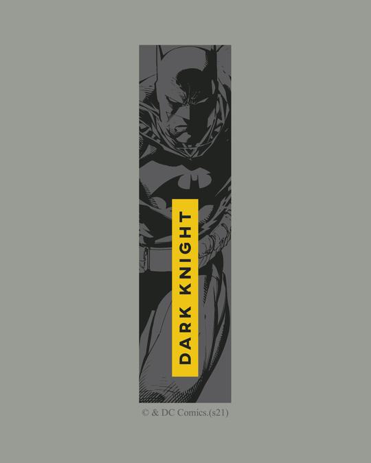 Shop Dark Knight Stripe Half Sleeve T-Shirt Meteor Grey (BML)-Full