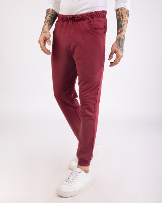 Shop Dark Maroon Casual Jogger Pant-Back