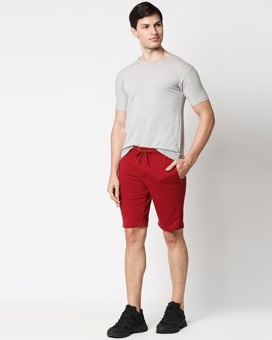 Shop Dark Maroon Casual Short