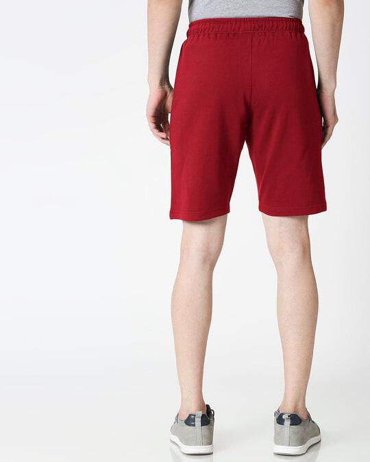 Shop Dark Maroon Casual Shorts-Design