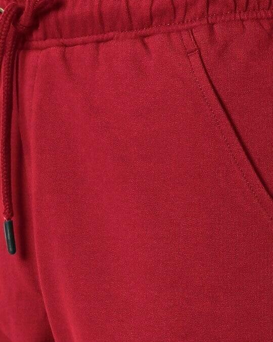 Shop Dark Maroon Casual Shorts