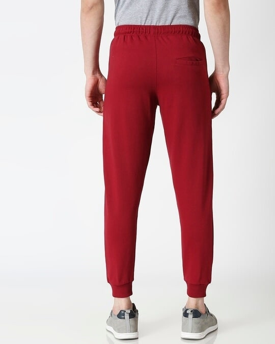 Shop Dark Maroon Jogger Pants-Full