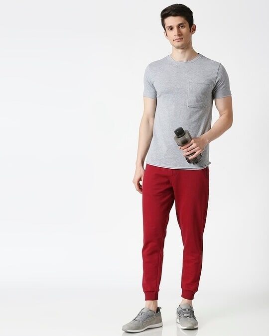 Shop Dark Maroon Jogger Pants