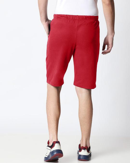 Shop Dark Red Casual Shorts-Design