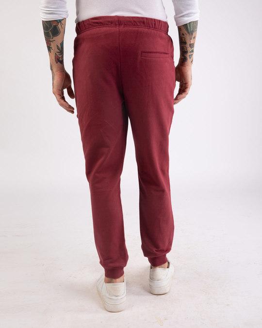 Shop Dark Maroon Round Pocket Joggers Pants-Design