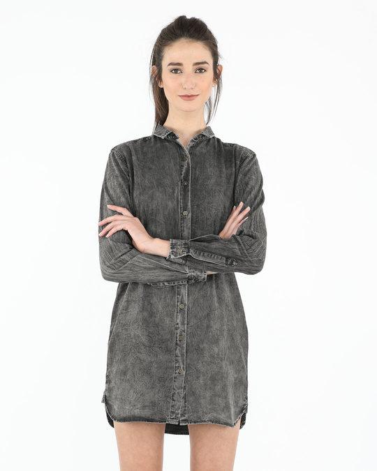 299bcb61d18 Buy Dark Metal Denim Dress Women s Denim Dress Online India ...