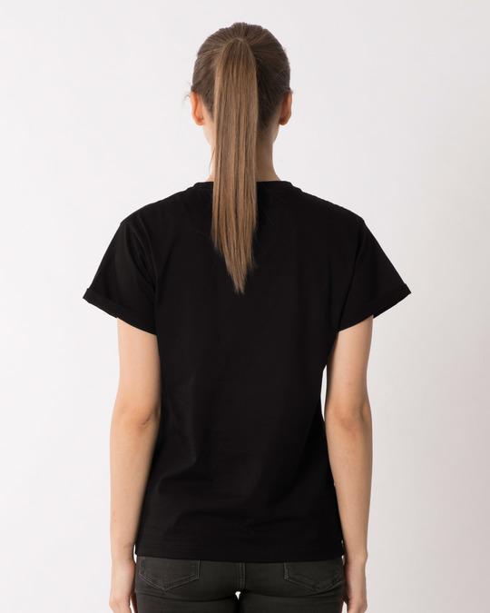 Shop Dark Mickey Face Boyfriend T-Shirt (DL)-Full