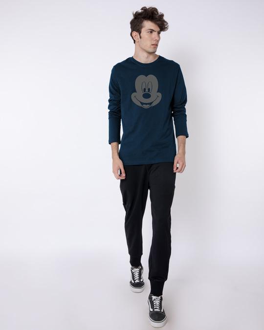 Shop Dark Mickey Face Full Sleeve T-Shirt (DL)