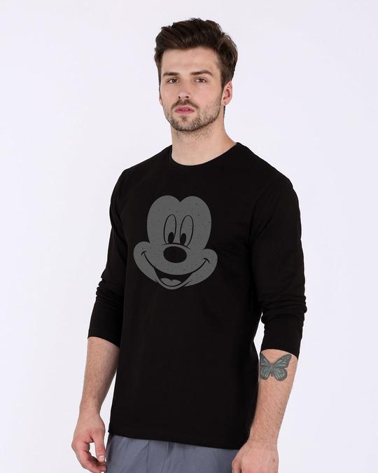 Shop Dark Mickey Face Full Sleeve T-Shirt (DL)-Back