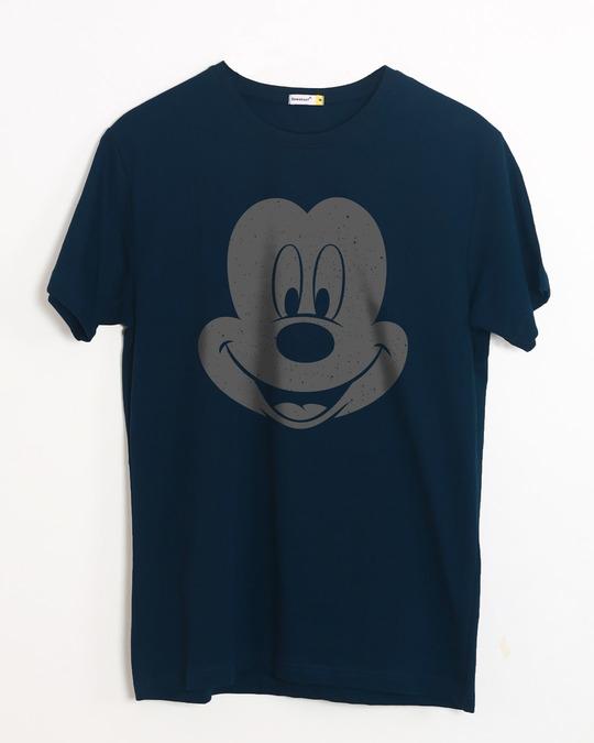 Shop Dark Mickey Face Half Sleeve T-Shirt (DL)-Front