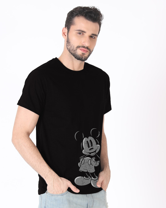 Shop Dark Mickey Half Sleeve T-Shirt (DL)-Full