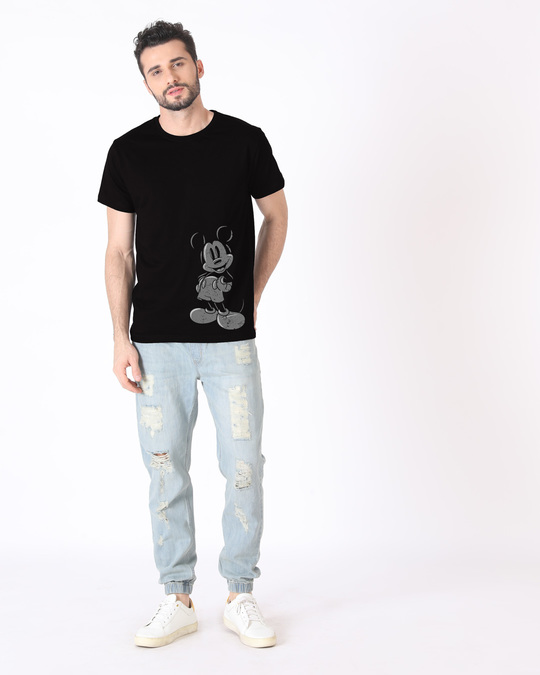 Shop Dark Mickey Half Sleeve T-Shirt (DL)