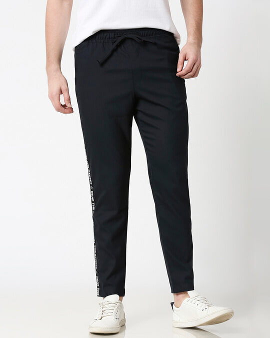 Shop Dark Navy Men's Casual Pants-Front