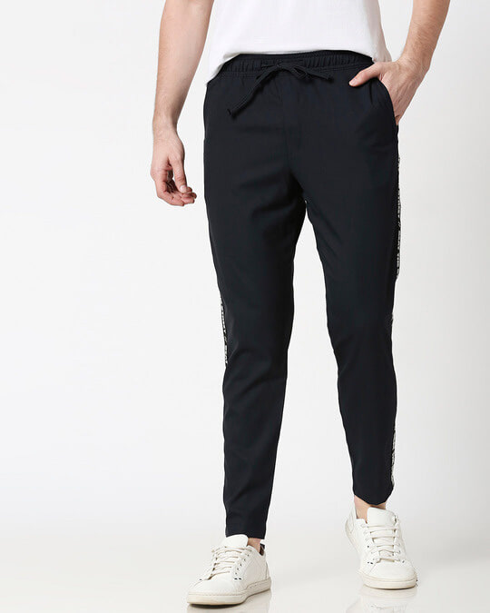 Shop Dark Navy Men's Casual Pants-Back