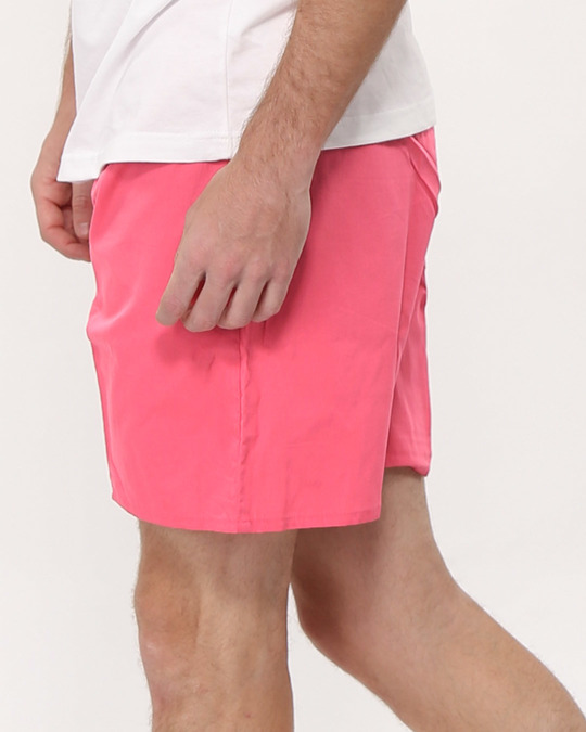Shop Dark Pink Plain Boxer-Back