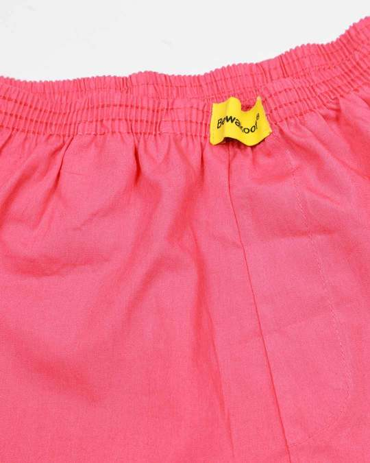 Shop Dark Pink Plain Boxer