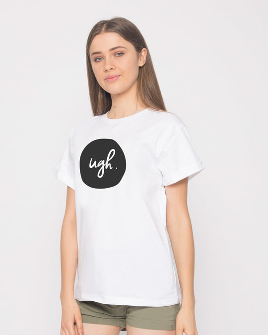 Shop Dark Ugh Boyfriend T-Shirt-Back