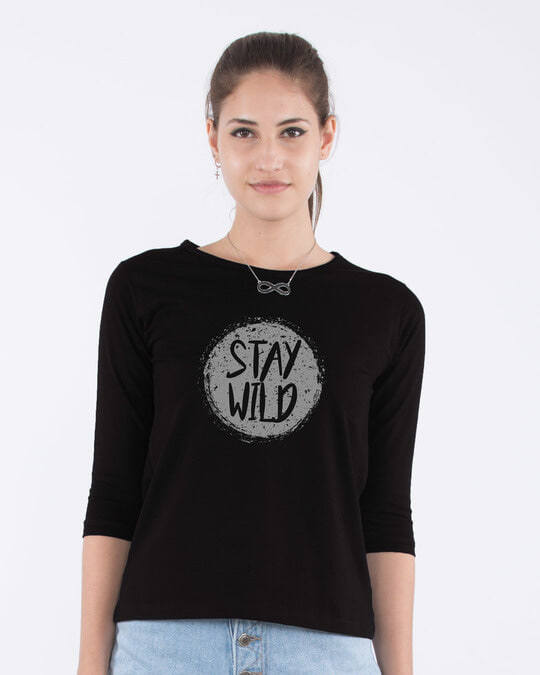 Shop Dark Wild Round Neck 3/4th Sleeve T-Shirt-Front