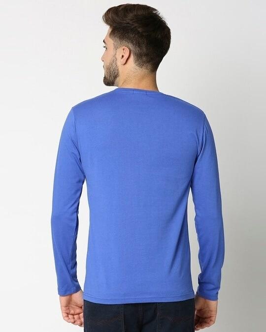 Shop Dazzling Blue Full Sleeve T-Shirt-Full