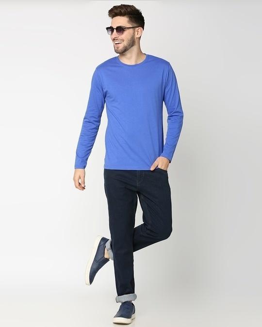 Shop Dazzling Blue Full Sleeve T-Shirt