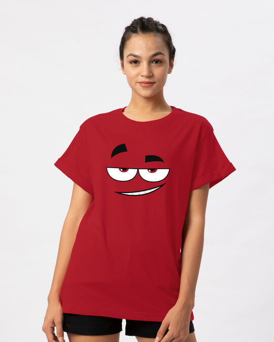 Shop Dead Eyes Boyfriend T-Shirt-Front